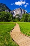 Boardwalk Headed To Yosemite Falls