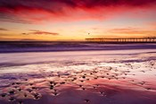 Sunset Over Ventura Pier From San Buenaventura State Beach