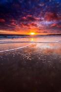 Warm Sunset From Ventura State Beach