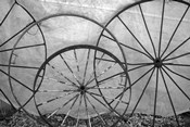 Old Metal Wagon Wheels (BW)