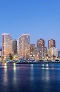 Hawaii, Honolulu, Twilight Waikiki Skyline