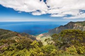 Landscape View From Kalalau Lookout, Hawaii