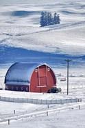 Snow-Covered Barn, Idaho
