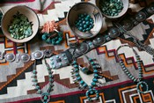 Display Of Turquoise Accessories, Santa Fe, New Mexico