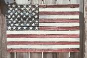 Worn Wooden American Flag, Fire Island, New York