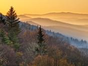 Sunrise From The Oconaluftee Valley Overlook, North Carolina