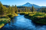 Mt Bachelor And The Deschutes River, Oregon