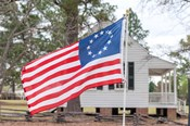 Betsy Ross Flag At The Craven House In Historic Camden, South Carolina