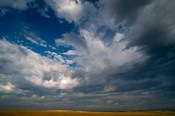 Massive Summer Cloud Formations Over Wheat Fields