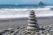 Stacked Beach Rocks, Washington State