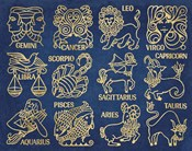 Whats Your Sign Blue Gold