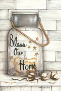 Glass Luminary Bless Our Home