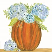 Pumpkin Full of Hydrangeas