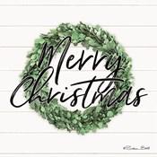 Merry Christmas Boxwood Wreath