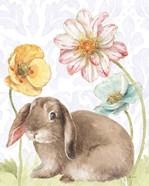 Spring Softies Bunnies III Purple