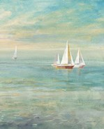 Sunrise Sailboats II Nautical