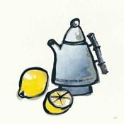 Tea and Lemons Navy