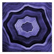Agate rings Purple