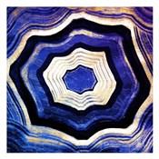 Agate rings Purple Blue