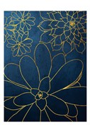 Navy Gold Succulent 2