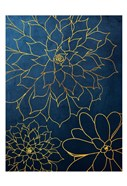 Navy Gold Succulent 3