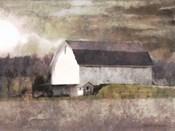 Rustic White Barn Scene I
