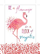 Flamingo in a Flock of Seagulls