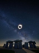 Eclipse at Carhenge