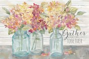 Farmhouse Hydrandeas in Mason Jars Spice -Gather