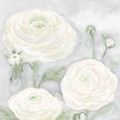 Peaceful Repose Floral on Gray I