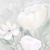 Peaceful Repose Floral on Gray II