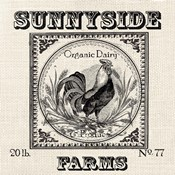 Farmhouse Grain Sack Label Rooster