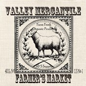 Farmhouse Grain Sack Label Sheep