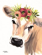 Jersey Cow with Floral Crown
