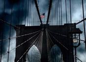 Stars and Stripes on Brooklyn Bridge
