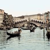Ponte Rialto con Gondolas