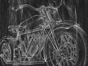 Motorcycle Mechanical Sketch I
