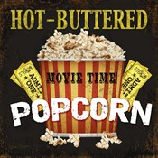 Hot Buttered Popcorn Theater Art