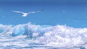 Gull In The Waves