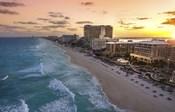 Sunset On Cancun