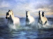 Running Horses Crashing Waves