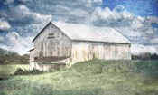 Old White Barn and Blue Sky