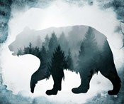 Moody Blue Bear Silhouette
