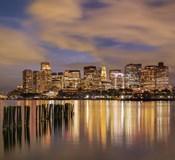 Dusk over Boston Harbor