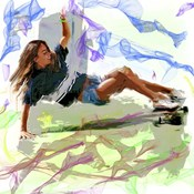 Woman Skateboarder