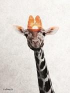 Giraffe with Sun