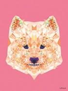 Geometric Samoyed Dog