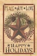 Happy Holiday Barn Star I