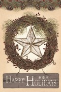 Happy Holidays Barn Star II