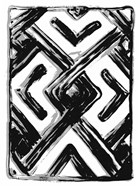African Textile Woodcut IV